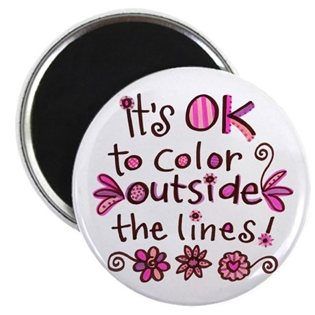 """Color Outside the Lines 2.25"""" Magnet (10 pack)"""