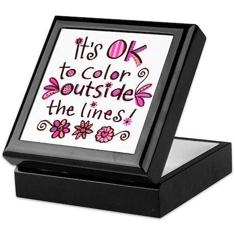 Color Outside the Lines Keepsake Box