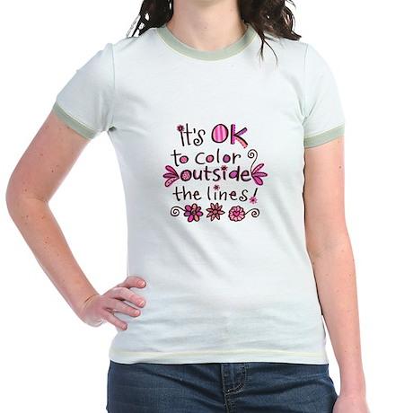 Color Outside the Lines Jr. Ringer T-Shirt