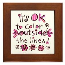 Color Outside the Lines Framed Tile