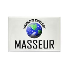 World's Coolest MASSEUR Rectangle Magnet