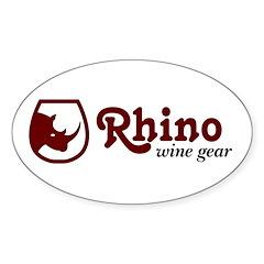 Rhino Wine Gear Oval Decal