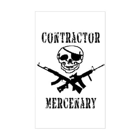 Mercenary Contractor - Rectangle Sticker