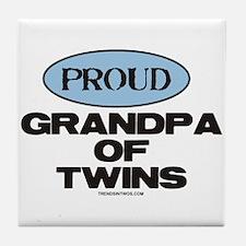 Grandpa of Twins - Tile Coaster