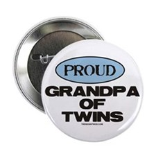 """Grandpa of Twins - 2.25"""" Button"""