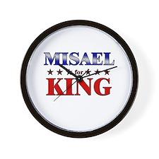 MISAEL for king Wall Clock