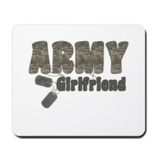 Army Girlfriend (tags) Mousepad