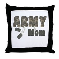 Army Mom (tags) Throw Pillow