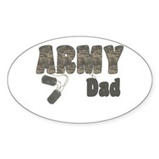 Army Dad (tags) Oval Decal