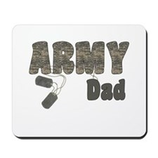 Army Dad (tags) Mousepad
