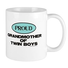 Grandmother of Twin Boys - Small Mugs