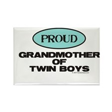 Grandmother of Twin Boys -Rectangle Magnet