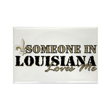 Someone in Louisiana Rectangle Magnet (10 pack)