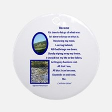 Become Poem Ornament (Round)