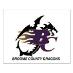 Broome County Dragons Small Poster