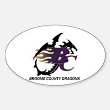 Broome County Dragons Oval Decal