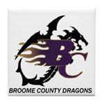 Broome County Dragons Tile Coaster