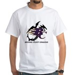 Broome County Dragons White T-Shirt