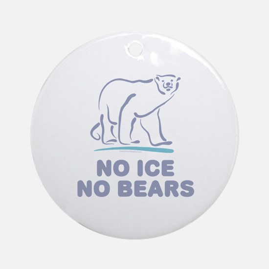 Polar Bears & Climate Change Ornament (Round)