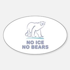 Polar Bears & Climate Change Oval Decal