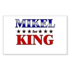 MIKEL for king Rectangle Decal