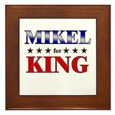MIKEL for king Framed Tile