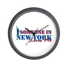 Someone in New York Wall Clock