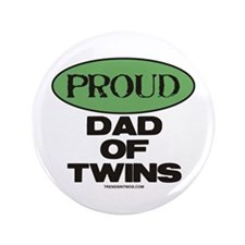 """Dad of Twins - 3.5"""" Button"""