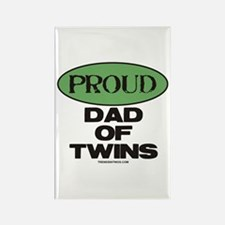 Dad of Twins - Rectangle Magnet