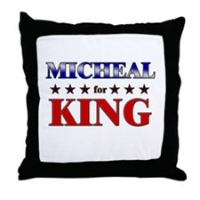 MICHEAL for king Throw Pillow