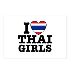 I Love Thai Girls Postcards (Package of 8)