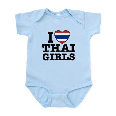 I Love Thai Girls Infant Bodysuit