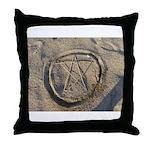 Beach Pentacle Throw Pillow