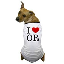 I Love Oregon (OR) Dog T-Shirt