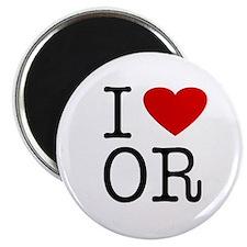 I Love Oregon (OR) Magnet