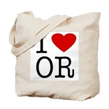 I Love Oregon (OR) Tote Bag