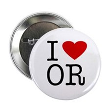 I Love Oregon (OR) Button