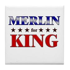 MERLIN for king Tile Coaster