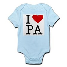I Love Pennsylvania (PA) Infant Creeper