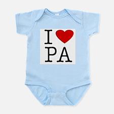 I Love Pennsylvania (PA) Infant Creeper