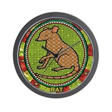 Year of the Rat 2 Wall Clock