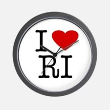 I Love Rhode Island (RI) Wall Clock