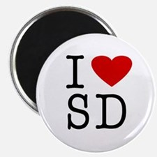 I Love South Dakota (SD) Magnet