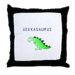 GEEKASAURUS Throw Pillow
