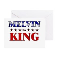 MELVIN for king Greeting Card