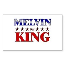 MELVIN for king Rectangle Decal