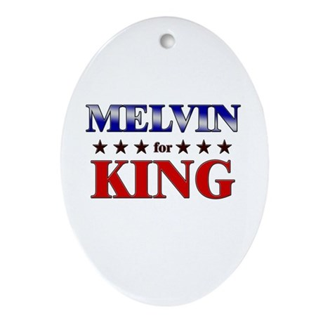 MELVIN for king Oval Ornament