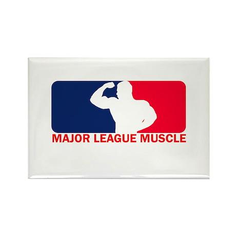 Major League Muscle Rectangle Magnet