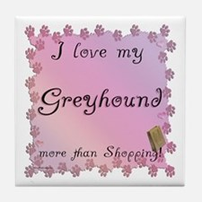Greyhound Shopping Tile Coaster