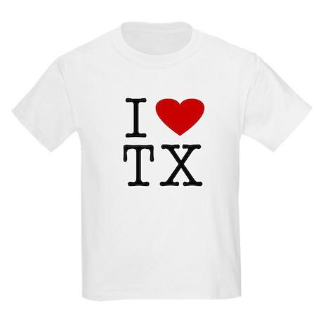 I love texas tx kids t shirt by wearmyname for Texas tee shirt company